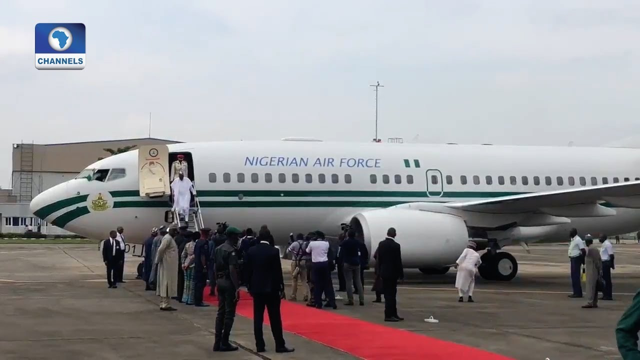President Buhari Arrives Lagos For Seme Border Visit