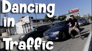 WHITE BOYS WHIP DANCE! in TRAFFIC on 405 Freeway | @itsTWKofficial