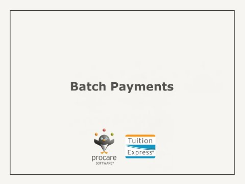 Tuition Express: Batch Payments