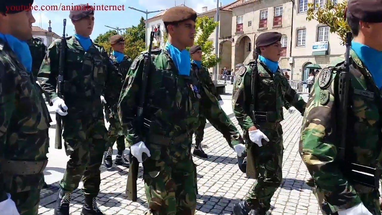 6514ca2e4e3 Military march. RI13. Portuguese Army. NATO. Vila Real. Portugal ...