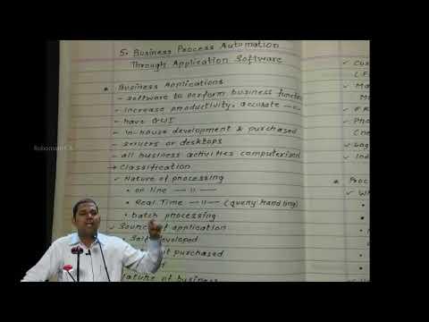 BUSSINESS PROCESS MANAGEMENT THROUGH APPLICATION SOFTWARE part1