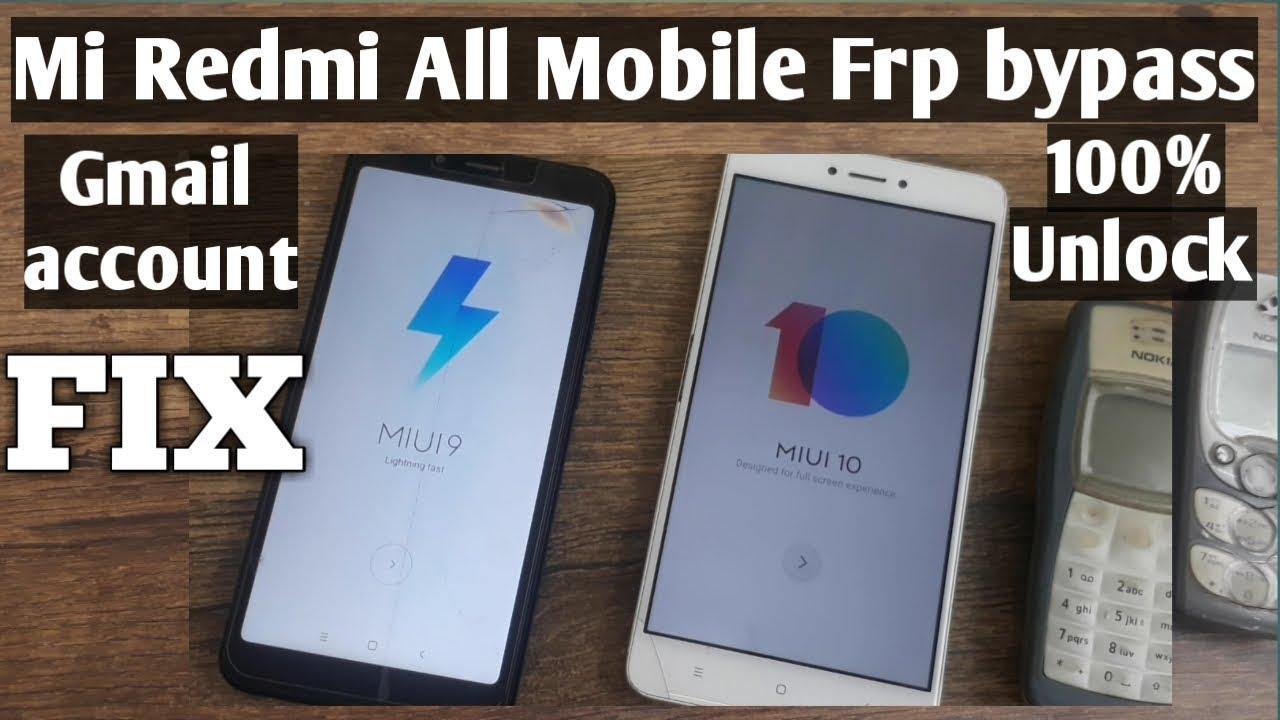 Mi Redmi All Mobile Gmail account Remove Bypass Frp FIX 100% unlock NEW  METHOD 2020