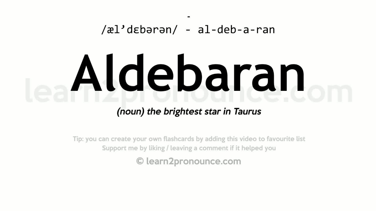 Aldebaran pronunciation and definition