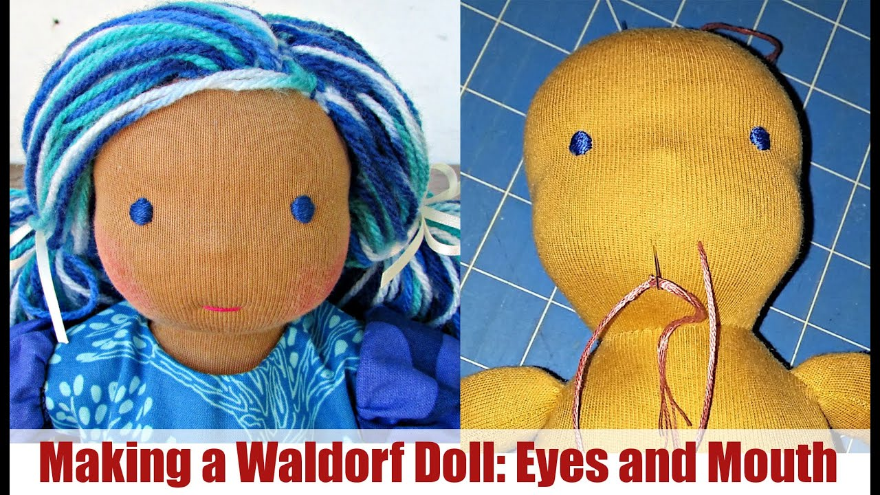 Diy  Embroidering Eyes And Mouth (waldorf Doll)  Classic Sami Doll  Pattern  Part 4  Youtube