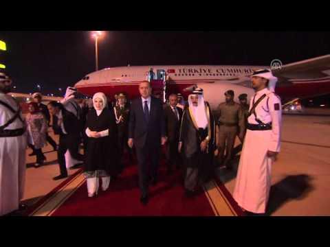 Turkish President Erdogan arrives in Doha