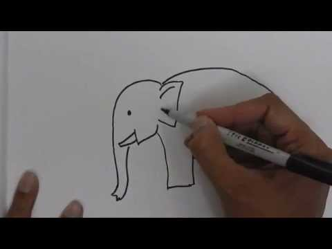 How To Draw An Elephant Easy Steps.Advanced Tutorial