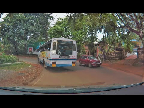 Kerala State RTC Bus Driver showing his driving skills on Twisty Kerala Roads