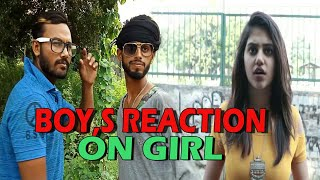 Boy,s Reaction on Girl || New Funny Video 2018 || Crack Minde