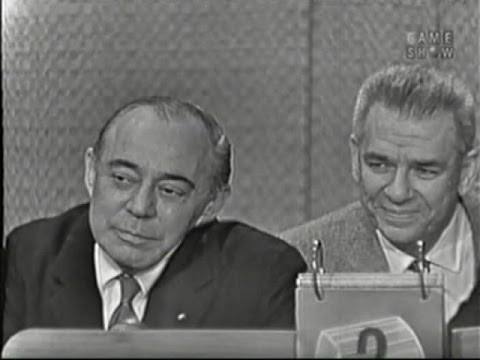 What's My Line?  Rodgers & Hammerstein; Martin Gabel & Paulette Goddard panel Nov 29, 1959