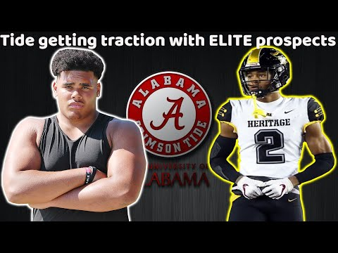 Alabama Recruiting News! | Tide get Official from 5⭐ OT! + the Tide looking good for top CB Target!