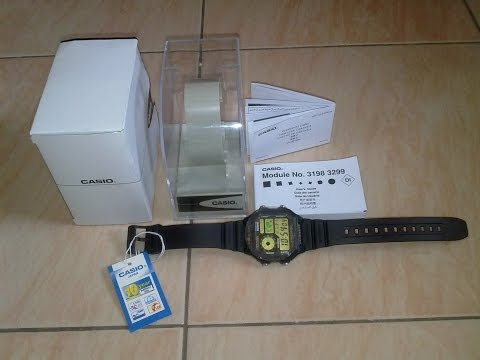 Casio Digital Watch AE-1200WH-1BV Unboxing Video