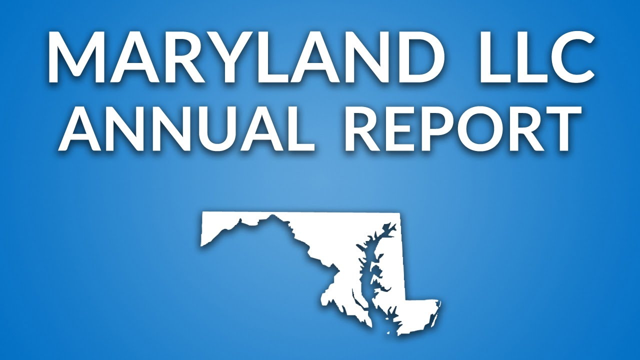 Maryland LLC - Annual Report (Personal Property Tax)