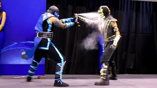 Scorpion vs Sub Zero [Cosplay Dual] [MASGAMERS]