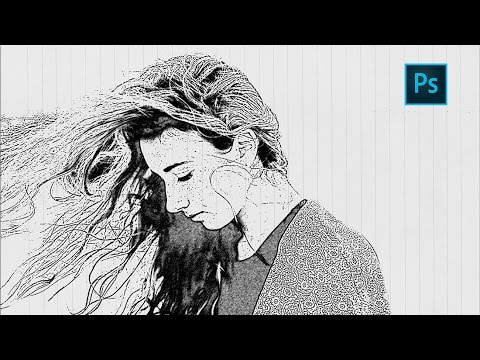Photoshop sketch effect tutorial how to turn photo into pencil drawing