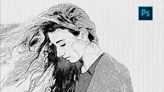 Video Photoshop Sketch Effect Tutorial   How to Turn photo into pencil drawing download MP3, 3GP, MP4, WEBM, AVI, FLV Juni 2018