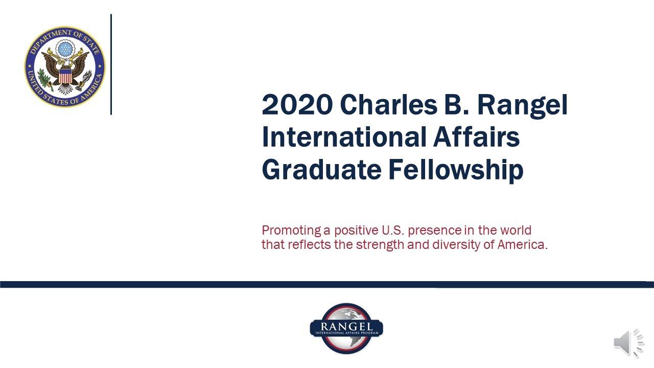 Graduate Fellowship Program – Charles B  Rangel