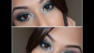 smokey green eyes ft bh cosmetics day night palette
