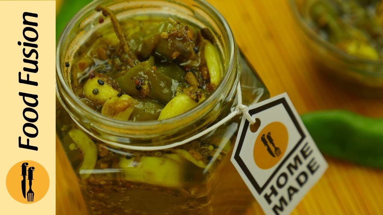 Instant green chili and garlic pickle recipe by Food Fusion