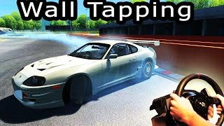 Drifting - Toyota Supra wall tap! Online Multiplayer (Assetto Corsa, t500rs, th8rs) Full HD