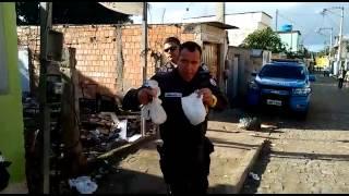 Drogas escondidas no marcador de energia elétrica, na Boca do Mato