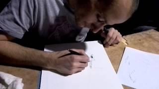 Thought Bubble 2013 - David Aja sketching me Hawkguy 4/2.
