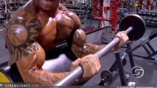 Repeat youtube video Jason Borrego Doing Preacher Curls for Big Biceps