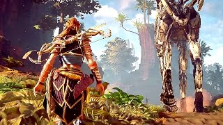 Horizon Zero Dawn - 1 Hour of AMAZING Gameplay (PS4) 2017
