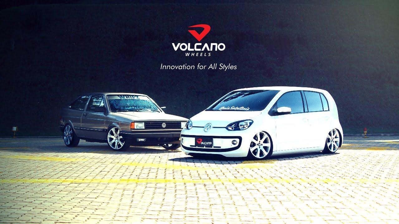 VW UP TSI e Gol Turbo com rodas Volcano Rostock aro 17 ...