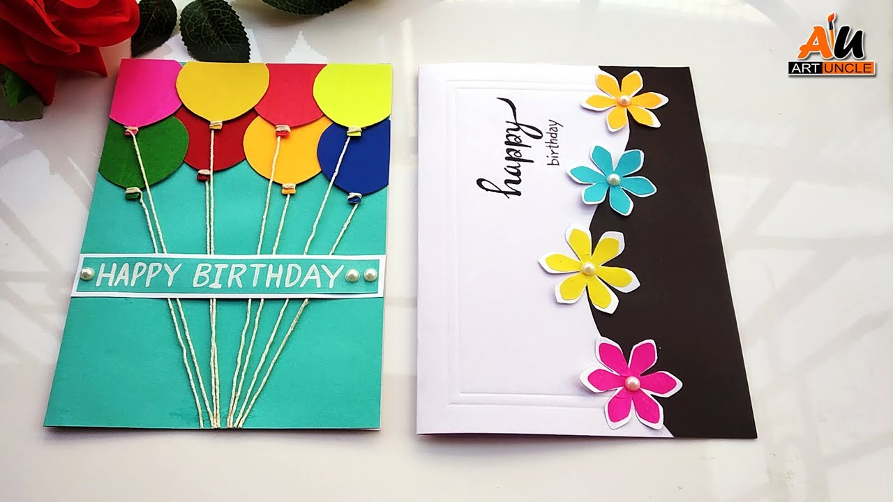 How to make 6 Easy & Beautiful Handmade Happy Birthday Greeting Cards at  Home