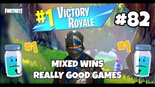 FORTNITE BATTLE ROYALE #82 MIXED WINS REALLY GOOD GAMES