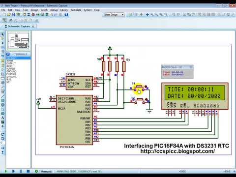 Interfacing PIC16F84 with DS3231 RTC - CCS C compiler