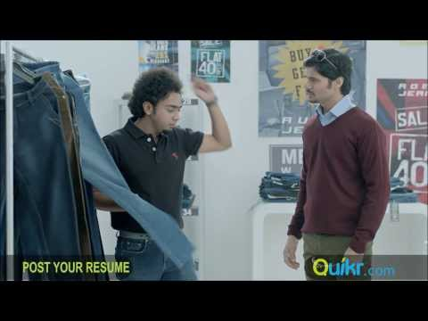 Shop Assitant Find's Cool Job - Quikr TVC Travel Video