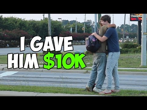 Thumbnail: Giving A Random Homeless Man $10,000