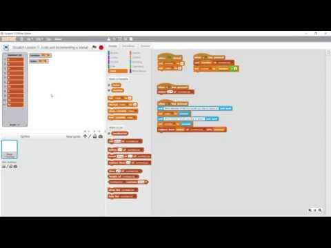 Scratch Lesson 7 - Lists and Incrementing Variables Part 1