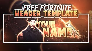 FREE FORTNITE GFX! EASY TO EDIT HEADER TEMPLATE!!