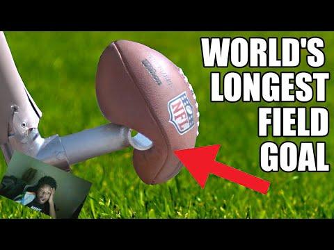 Reacting to World's Longest Field Goal- Robot vs NFL Kicker