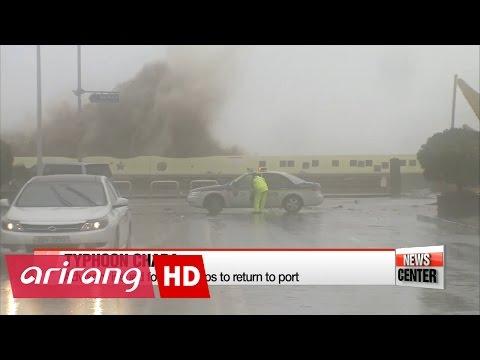 Typhoon Chaba to brush through Korea into mainland Japan