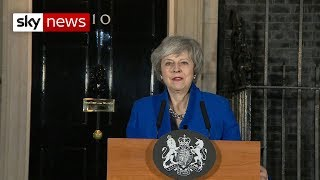 Theresa May speaks in Downing Street after winning no-confidence vote