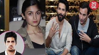 Alia Bhatt Visits Beau Sidharth Before Heading To NY | Shahid Kapoor & Saif Ali Khan Bond