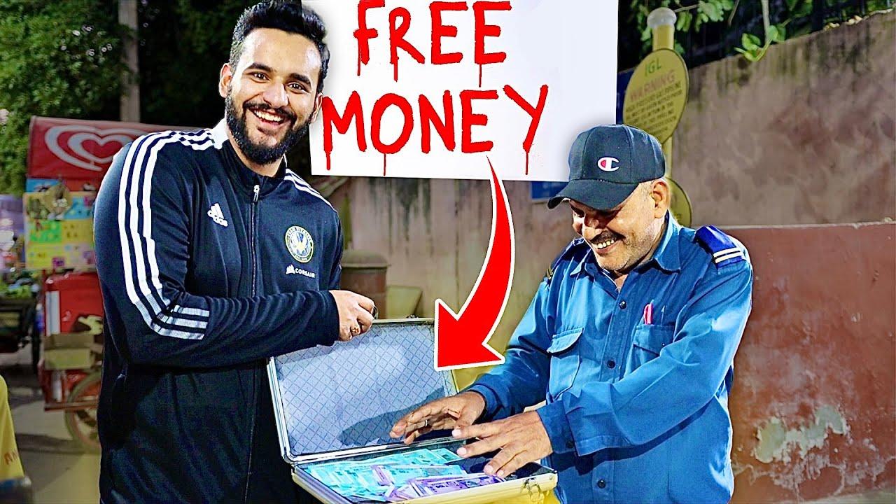 I gave FREE MONEY !! *Mystery BOX challenge*
