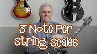 3 Note Per String Scales - Playing through all 7 positions on the guitar neck.