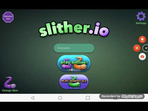 Playing slither.io(#1
