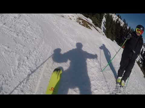 Skiing Crystal Mountain Ski Area Washington State Cascades with Jim 12-8-2017