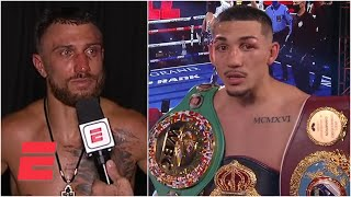 Teofimo Lopez, Vasiliy Lomachenko speak after their lightweight title fight | Top Rank Boxing