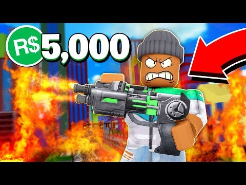 I Spent 5,000R$ On The #1 WEAPON In Roblox Super Destruction Simulator!