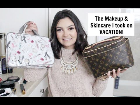 Everything I took to MEXICO   Makeup & Skincare!
