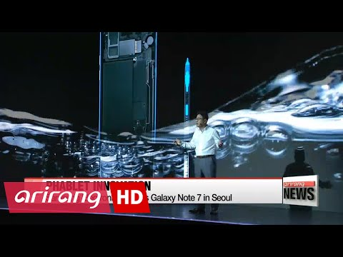 Samsung Electronics unveils Galaxy Note 7 in Seoul