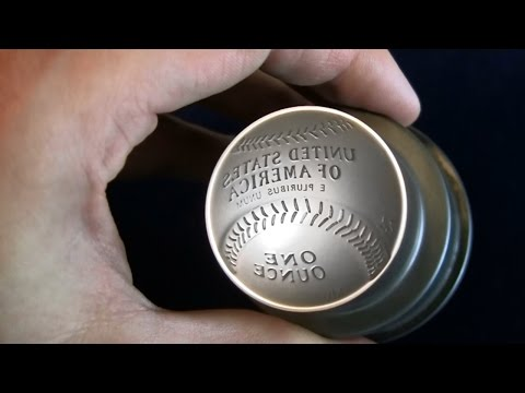 Baseball Coin - Making The Curved 2014 Baseball Hall Of Fame Coin