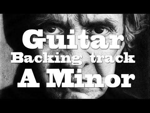 Guitar Backing track A Minor (Johnny Cash Inspired)