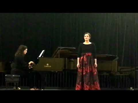 2018 National Winner in Senior Voice, MTNA - Melodie Spencer (18) Quando men vo by Puccini